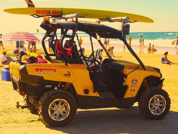 Nilrust electronic rust protecting surf lifesaving vehicles.