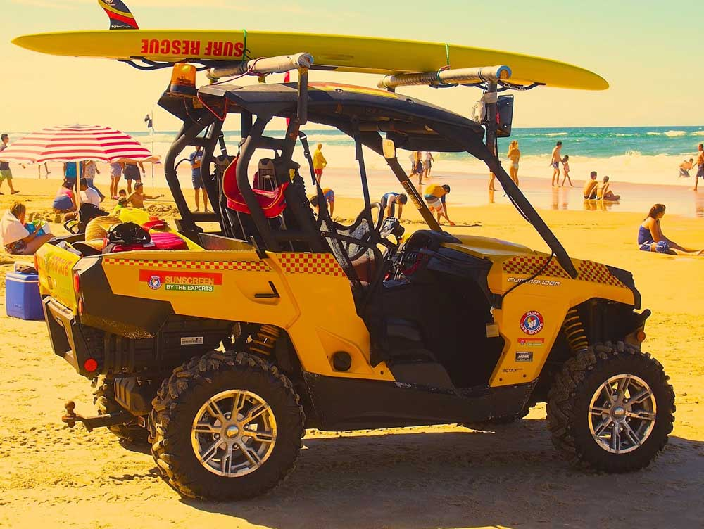 Nilrust electronic rust protecting surf lifesaving vehicles.